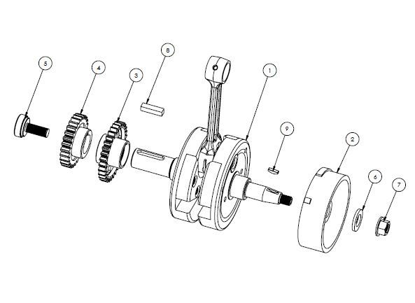 PM07-18 - Crankshaft assembly