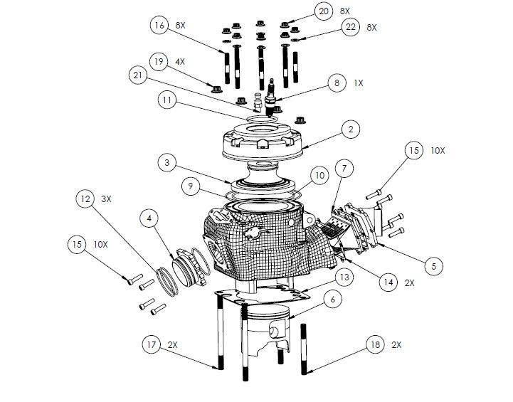 PM07-18 - Cylinder assembly