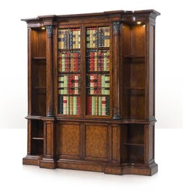Theodore Alexander A faux book and laurel burl bookcase
