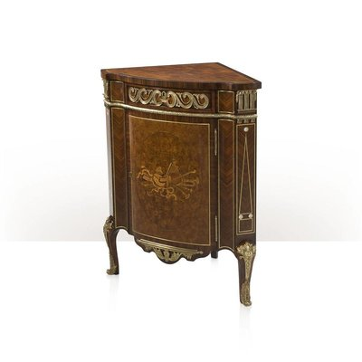Theodore Alexander A finely inlaid corner cabinet