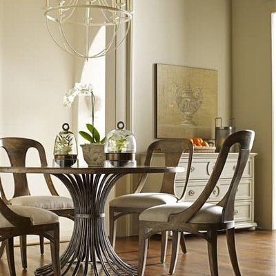 Chaddock Guy Chaddock Collection Meridian Dining Table (Metal Base)