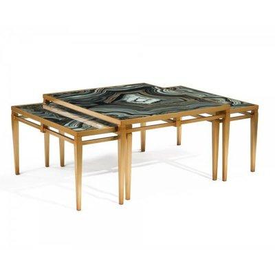 John Richard 19.25x36x31.5 AGATE COCKTAIL TABLES
