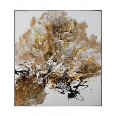 John Richard 70x78x2 CHEN QI'S GILT AND CHARCOAL
