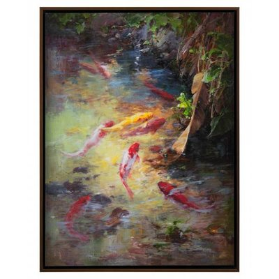 John Richard 31.5x41.5x2.5 LONG'S KOI I