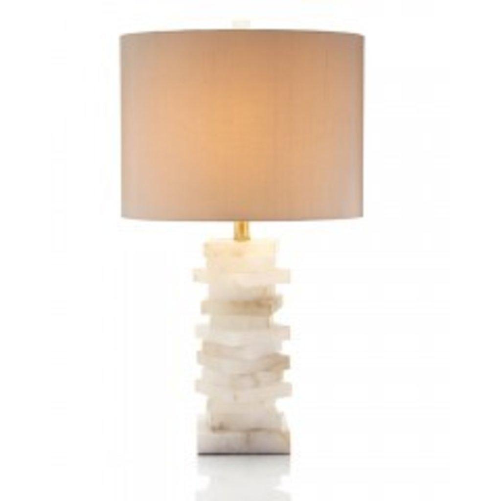 John Richard 30.5'' ALABASTER BLOCK LAMP