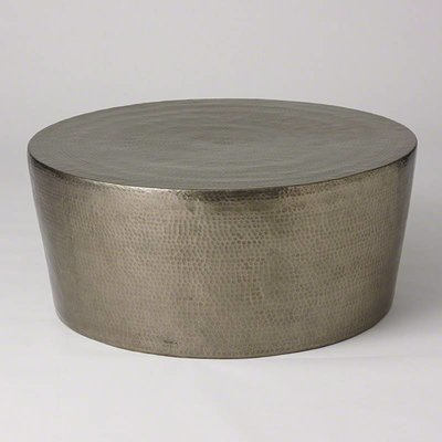 Global Views ~Izmir Hammered Cocktail Table-Antique N