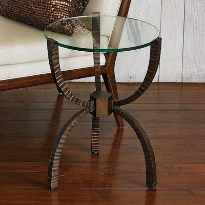 Global Views ~Teton Accent Table-Bronze