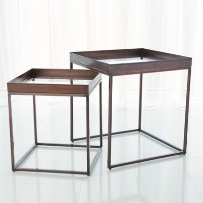 Global Views ~S/2 Perfect Nesting Tables-Bronze