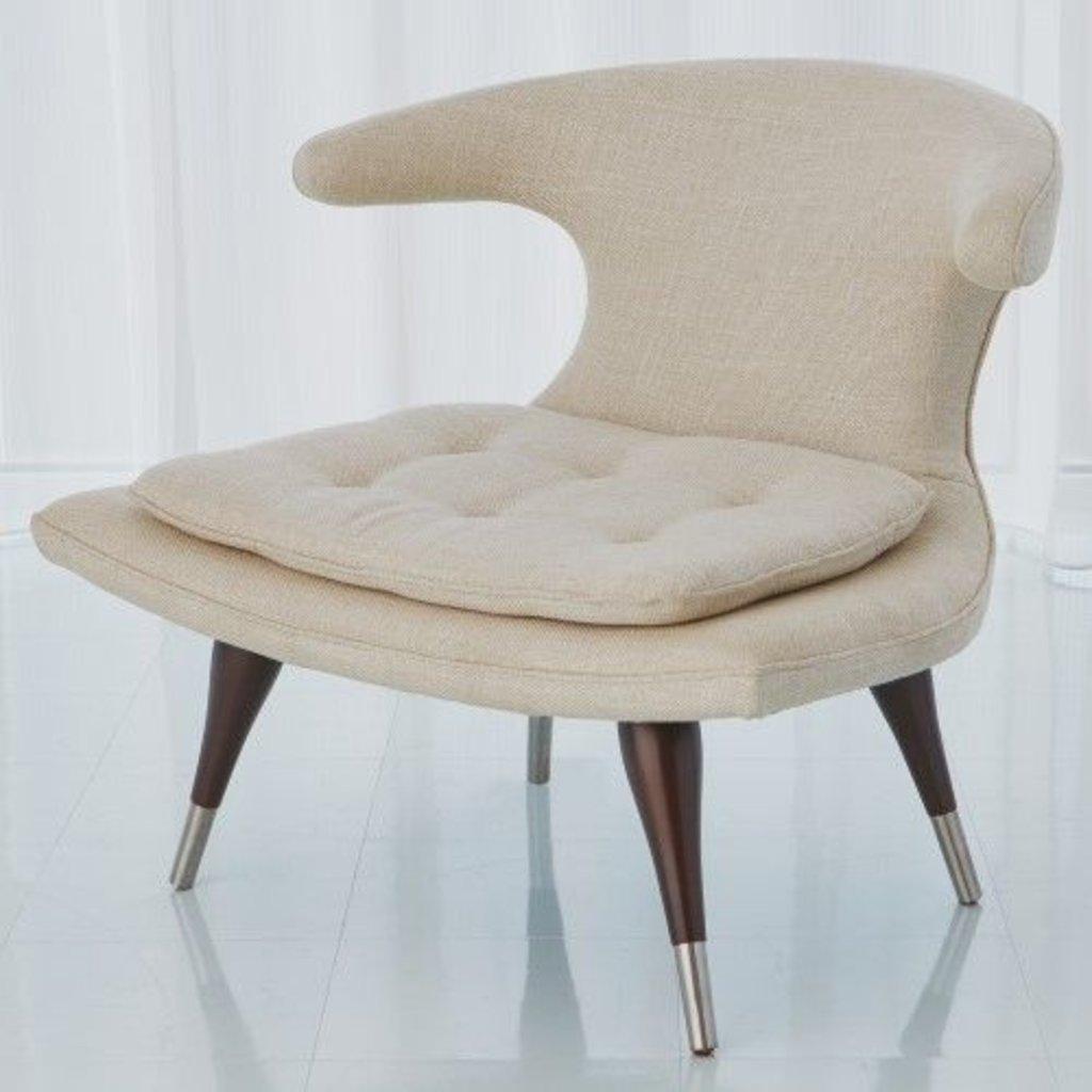 Global Views ~Anvil Lounge Chair-Windsor Woven
