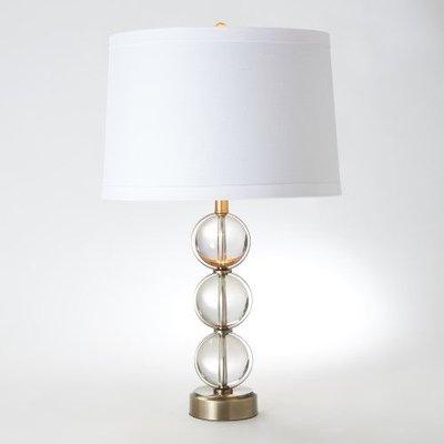 Global Views ~Crystal Ball Lamp-Antique Brass