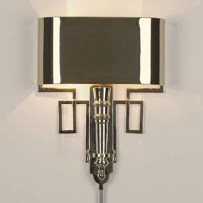 Global Views ~Hardwired Nickel Torch Sconce