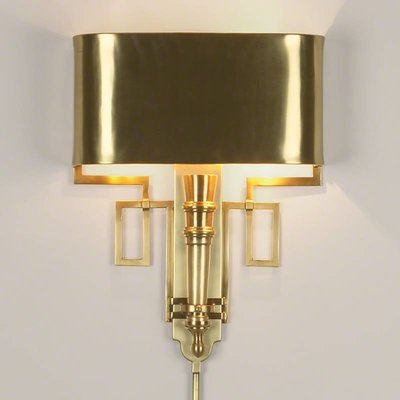 Global Views ~Hardwired Antique Brass Torch Sconce