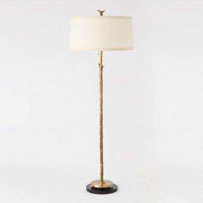 Global Views ~Organic Floor Lamp-Antique Brass Finish