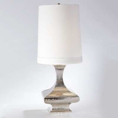 Global Views ~Egg and Palm Lamp-Antique Silver/Nickel