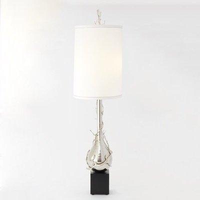Global Views ~Twig Bulb Floor Lamp-Nickel