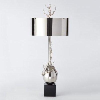 Global Views ~Twig Bulb Lamp-Nickel