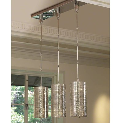 Global Views ~Coil 3 Light Pendant-Polished Nickel