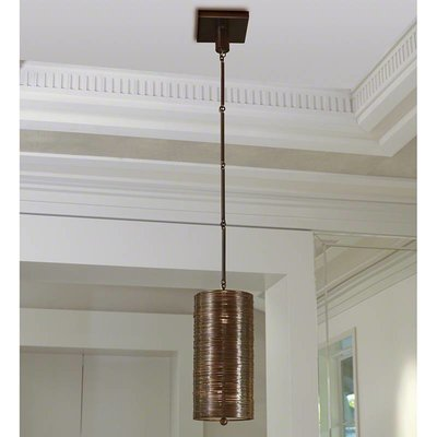 Global Views ~Coil Single Pendant-Bronze Finish