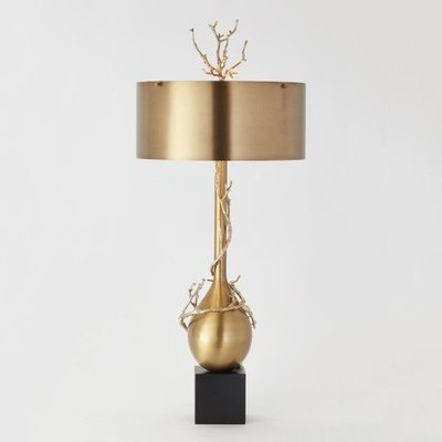 Global Views ~Twig Bulb Lamp-Brass