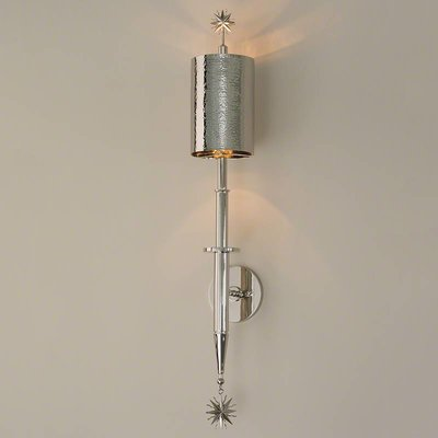 Global Views ~Star Arm Wall Sconce-Nickel