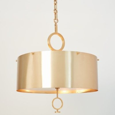 Global Views O Pendant Chandelier-Brushed Brass-Sm
