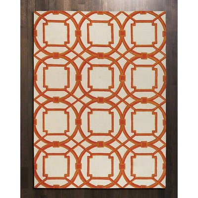 Global Views ~Arabesque Rug-Coral-5'x8'