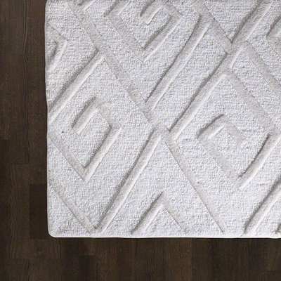 Global Views ~Maze Rug-Ivory-5' x 8'