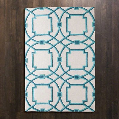 Global Views ~Arabesque Rug-Aqua-5'x8'