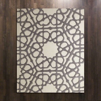 Global Views ~Rose Window Rug-Grey-6' x 9'