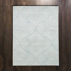 Global Views ~Arches Rug-Blue/Ivory-9' x 12'