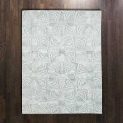 Global Views ~Arches Rug-Blue/Ivory-8' x 10'