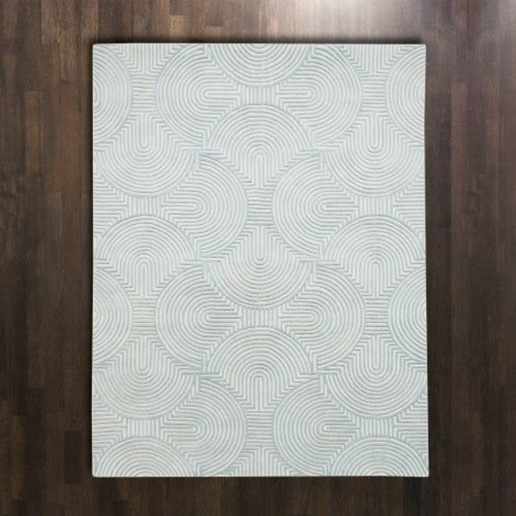 Global Views ~Arches Rug-Blue/Ivory-5' x 8'