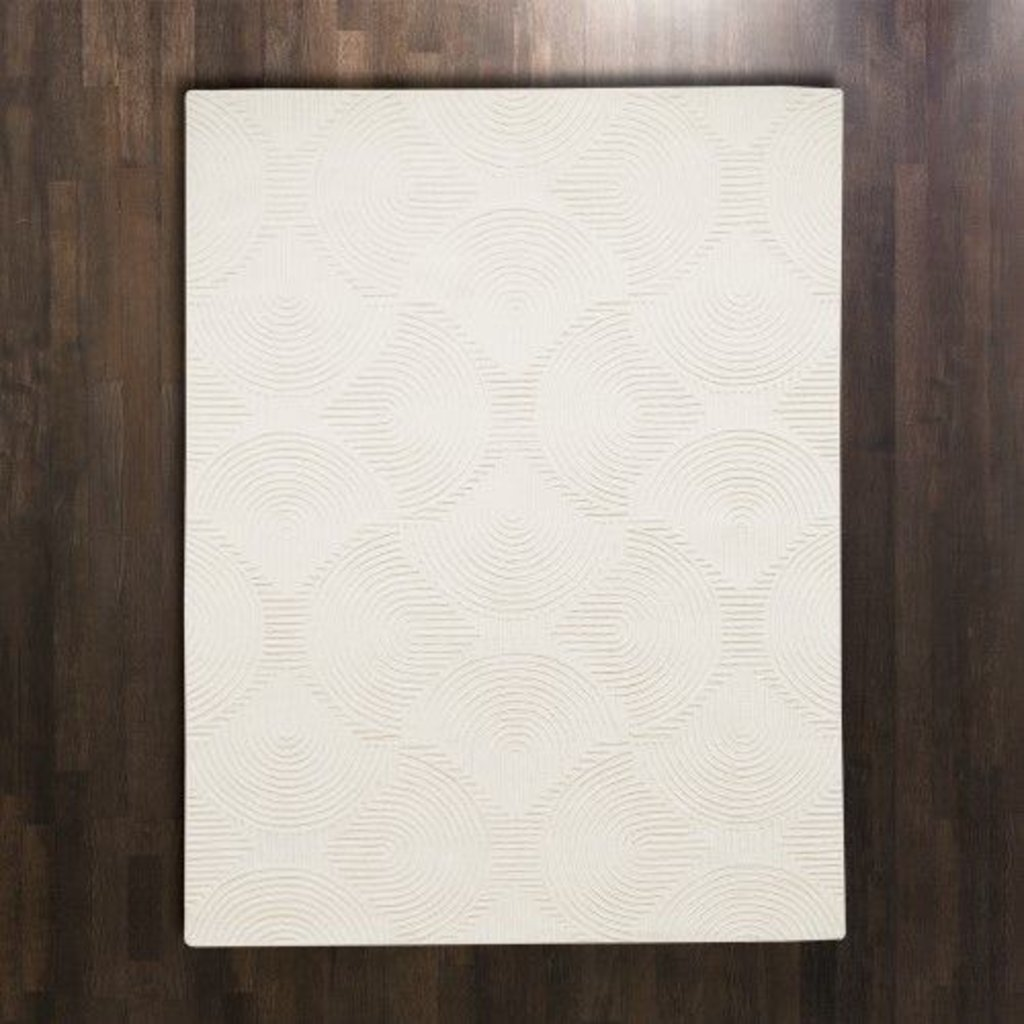 Global Views ~Arches Rug Ivory/Ivory-6' x 9'