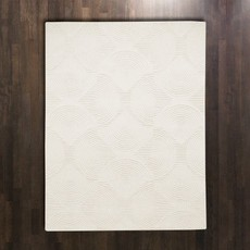 Global Views ~Arches Rug-Ivory/Ivory-5' x 8'