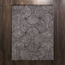 Global Views ~Arches Rug-Black/Ivory-9' x 12'