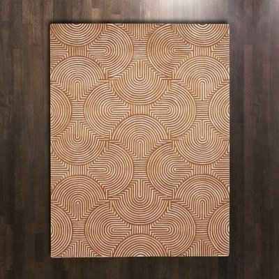 Global Views ~Arches Rug-Rust/Ivory-6' x 9'