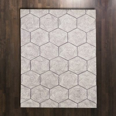 Global Views ~Hex Swirl Rug-5' x 8'
