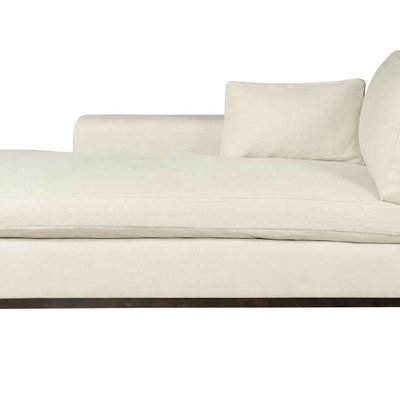 Resource Decor Hudson Chaise - Left Arm Facing / Wood Base / Grade 1