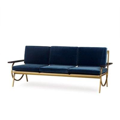 Resource Decor B Sofa - Vana Blue Velvet