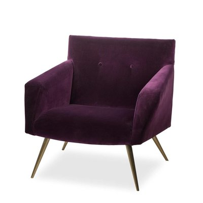 Resource Decor Kelly Occasional Chair -Mohair Velvet (UK)
