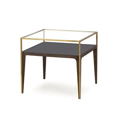 Resource Decor Silhouette Side Table - Smoked Glass