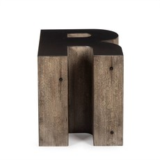 Resource Decor Alphabet Side Table - Letter R