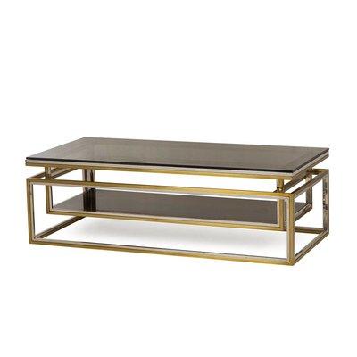 Resource Decor Drop Shelf Coffee Table - Smoked Glass