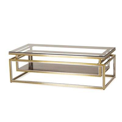 Resource Decor Drop Shelf Coffee Table - Clear Glass