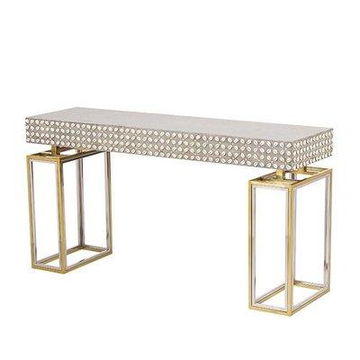 Resource Decor Cowrie Console Table - Concrete Top