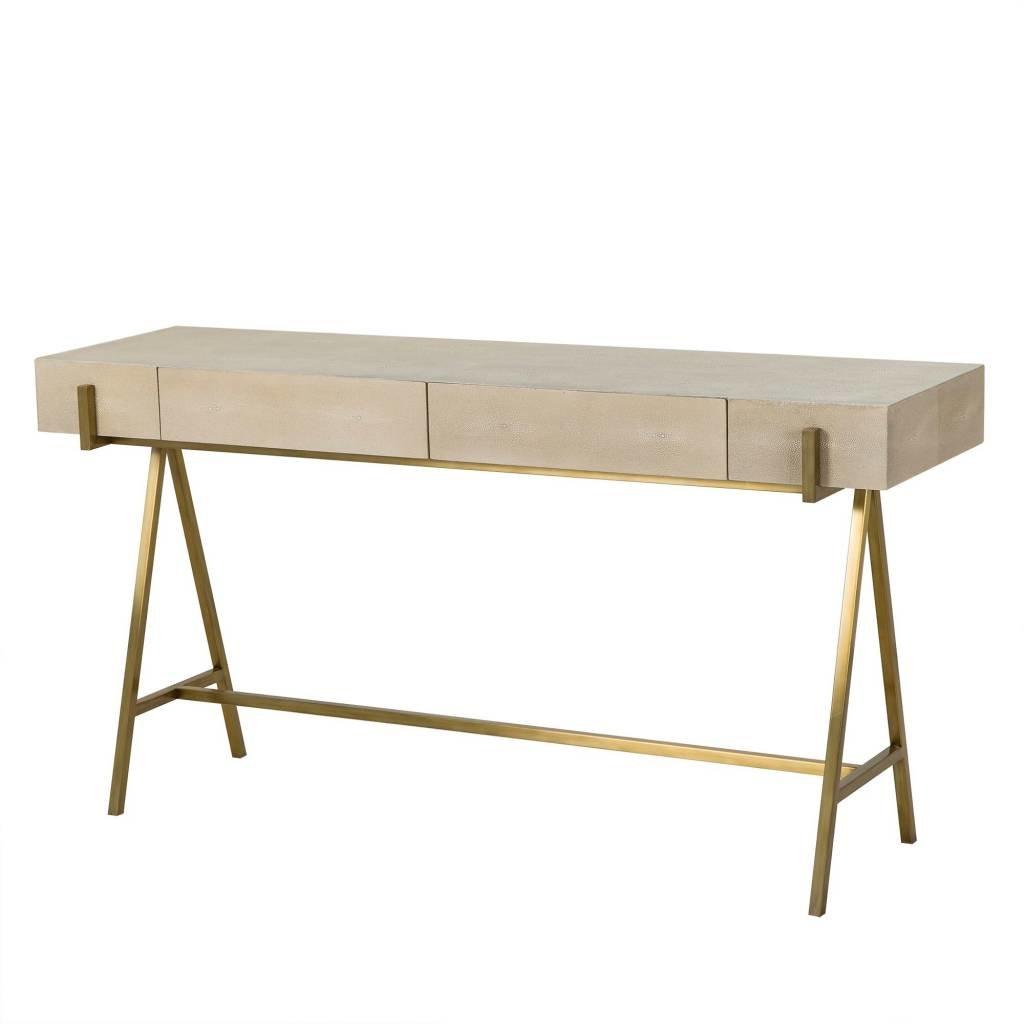 Resource Decor Delilah Console Table - Cream Shagreen