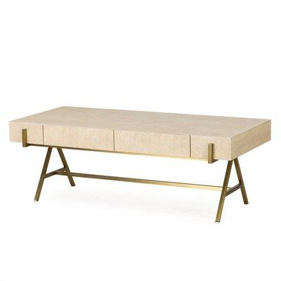 Resource Decor Delilah Coffee Table- Cream Shagreen