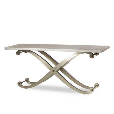 Resource Decor Elizabeth Console Table - Metallic  Shagreen Top
