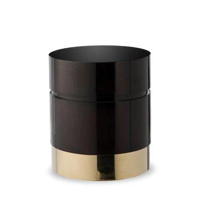 Resource Decor Morrison Ottoman - Round /Black Lacquer