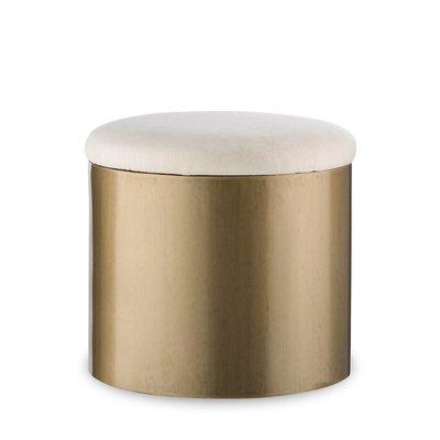 Resource Decor Morrison Ottoman - Round / Brushed Brass